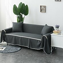 HMWPB Sofa Decken,1-Teilige Volltonfarbe