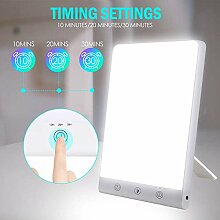 Hmyloz LED Lichttherapie Lampe Mit 30 Min Timer