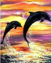 HNDXLHH Diamond Painting Set 40x50cm Delfin