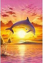 HNDXLHH Diamond Painting Set 60x80cm Delfin