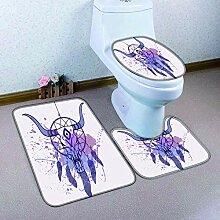 HNFY badgarnitur Lila Ziege 3D Drucken badematten