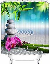 HNFY Pflanzen Motiv Duschvorhang Wasserdicht,
