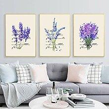 HNGY Nordic Lavender Canvas Englisch Combina