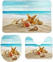 HNYF badgarnitur Seestern am Strand 3D Drucken