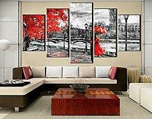 HNZYF Gemälde Tapete Dekoration Wohnzimmer London