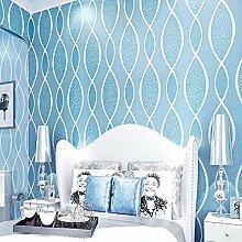 HNZZN 3D Abstract Wallpaper Streifen Tapete blaue