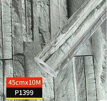 HNZZN 45cmx10M Ziegel Stein Selbstklebende Tapete