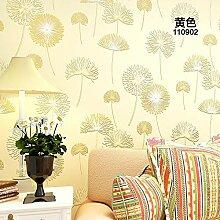 HNZZN Löwenzahn Schlafzimmer Garten Stil Tapete