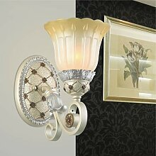 HNZZN Luxus Europa Harz Wandlampe Schlafzimmer