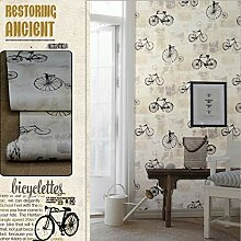 HNZZN Vintage Fahrrad Wallpaper für Wand Rolle 10