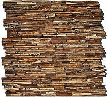 HO-006-1 Holz Paneele auf Netz Teakholz 3D