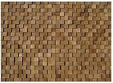 HO-M-004 - 1 Muster Fliese Teak-Holz Mosaikfliesen