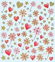 Hobby Design Sticker * Blumen - Herzen