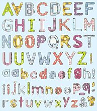 Hobby Design Sticker * Buchstaben ABC * Aufkleber