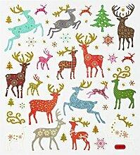 Hobby Design Sticker * Hirsche Rentier Reh Winter