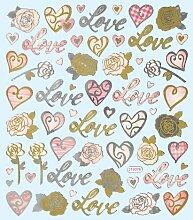 Hobby Design Sticker * Love - Liebe - Herzen