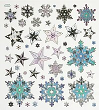 Hobby Design Sticker * Sterne Eiskristalle Winter