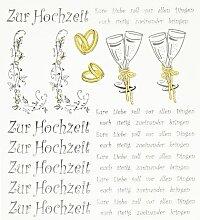 Hobby Design Sticker * Zur Hochzeit I Heirat *