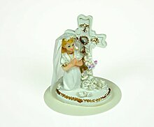 Hobbybäcker Kommunion-Mädchen mit Kreuz, 10 cm aus Polyresin