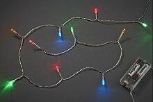Hobbyfun Mini-Lichterkette mit 20 bunten LED-Lämpchen, Batteriebetrieb