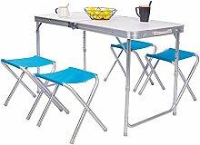 Hoch einstellbarer Picknicktisch mit 4-fachen