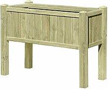 Hochbeet aus Holz 109x46x80 mit