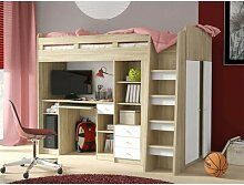 Hochbett Bedfo mit Möbel-Set