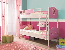 Hochbett Etagenbett - AMELIE - 90 x 200 cm Metall lackiert -Pink