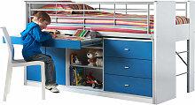 Hochbett Jax inklusive Schreibtisch + Schrank +