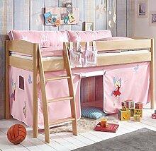 Hochbett Michelle 20679 Kinderbett Bett Kinderzimmer Stoffset Prinzessin