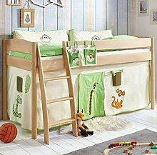 Hochbett Michelle 20683 Kinderbett Bett Kinderzimmer Stoffset Dschungel