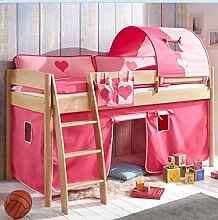 Hochbett Michelle 20688 Kinderbett Bett Kinderzimmer Stoffset Pink/Rosa