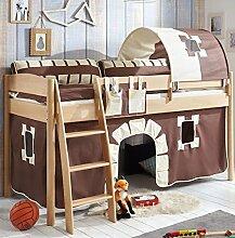 Hochbett Michelle 20699 Kinderbett Bett Kinderzimmer Stoffset Burg