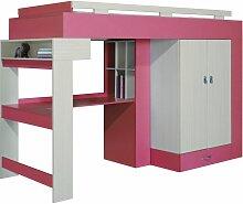 Hochbett mit Schrank, Regal und Schreibtisch