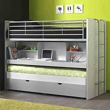 Hochbett mit Schreibtisch Gästebett