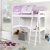 Hochbett mit Schreibtisch und Tunnel Weiß Lila
