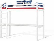 Hochbett Schreibtisch, 90x200 cm, weiß mit