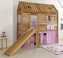 Hochbett Tom´s Hütte 1 Kinderbett m Rutsche
