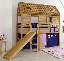 Hochbett Tom´s Hütte 1 Kinderbett Rutsche