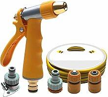 Hochdruck Auto Waschwasser Pistole Haushalt Bewässerung Pinsel Auto Werkzeugkit Auto waschen Auto Waschmaschine Wasserpfeife Wasser Pistole grün ( Farbe : Orange )