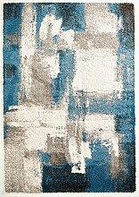 Hochfloor Design Teppich Melange blau 160 x 230 cm