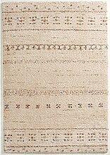 Hochfloor Teppich Muster Streifen Optik creme 120 x 170 cm