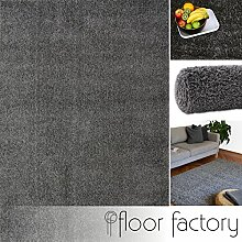 Hochflor Shaggy Teppich Colors grau/anthrazit 120x170cm - pflegeleichter und günstiger Langflorteppich
