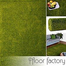 Hochflor Shaggy Teppich Colors grün 200x290cm - pflegeleichter und günstiger Langflorteppich