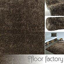 Hochflor Shaggy Teppich Feeling taupe 160x230 cm in 13 Farben und 5 Größen