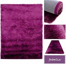 Hochflor Shaggy Teppich Gentle Luxus - Läufer in Trendfarben (Lila, 80x150cm)