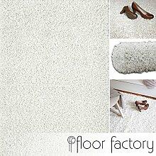 Hochflor Shaggy Teppich Loca creme/weiß 160x230cm - flauschiger und günstiger Langflorteppich