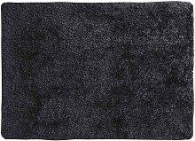 Hochflor Teppich aus Stoff, anthrazit, 200x300