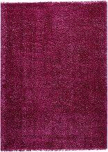 Hochflor Teppich Genf, lila (60/100 cm)