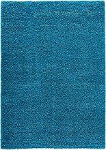 Hochflor Teppich Genf, petrol (60/100 cm)